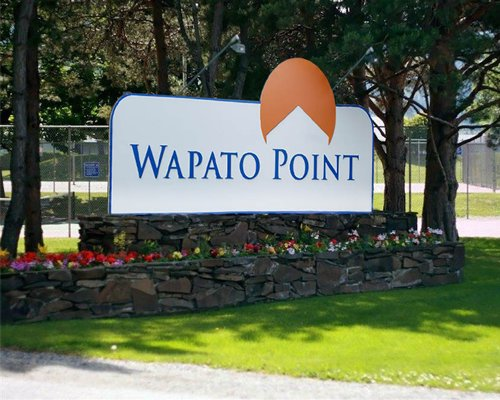 A scenic signboard of the Wapato Point resort.