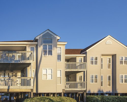 An exterior view of multi story units.