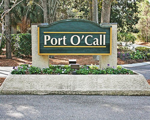 Signboard of the Port O'Call resort.