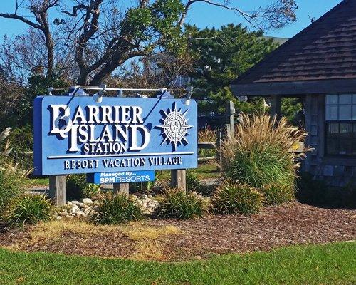 Signboard of Barrier Island Station.