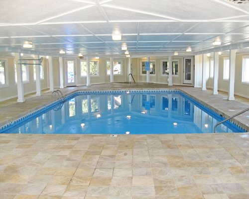 A well furnished indoor swimming pool.