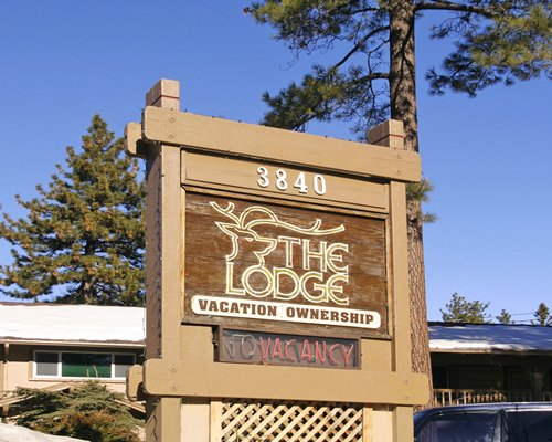 Signboard of The Lodge at Lake Tahoe.