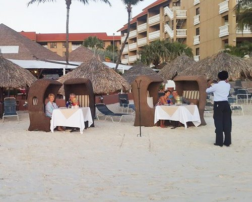 Fine dining directly on the beach at Matthew's Beachside Restaurant.