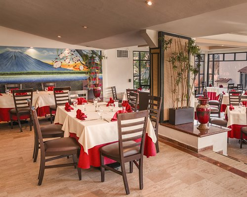 A fine dining indoor restaurant.