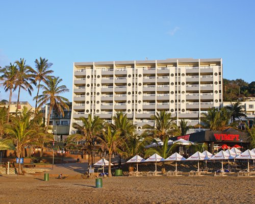 A beach view of the Margate Sands resort.