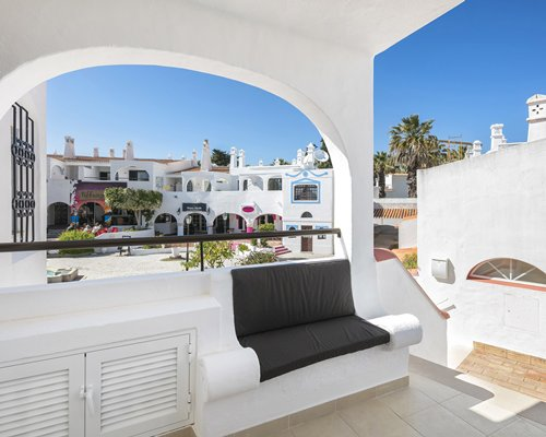 Scenic view of Monte Carvoeiro Clube and a balcony with an attached sofa.