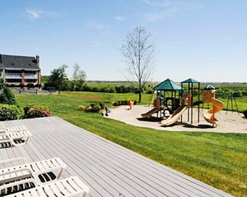 A scenic outdoor playscape.