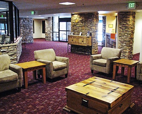 Indoor lounge area at Silverado.