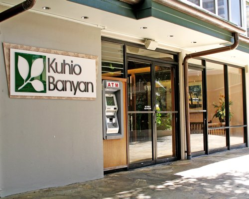 Entrance to Kuhio Banyan Club with an ATM.