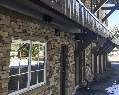 Exterior view of the entrance to units at Streamside At Vail Birch.