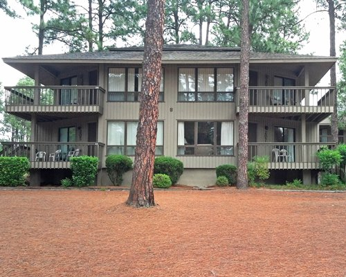 An exterior view of the Foxfire Resort.