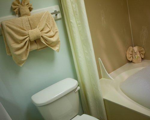 A bathroom with bathtub.