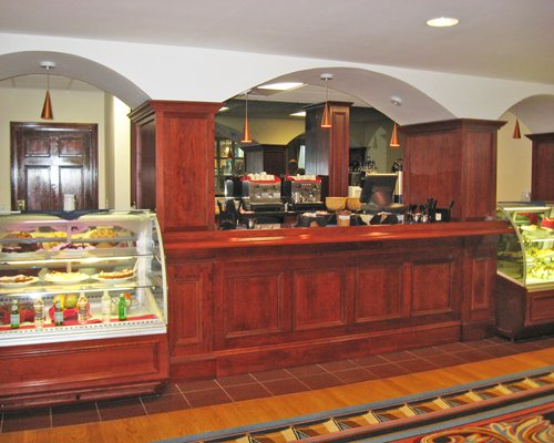 A well stocked cafeteria at the Water's Edge Resort and Spa.