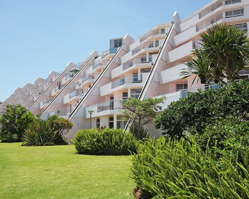 Exterior view of multiple unit balconies at La Cote D'Azur.
