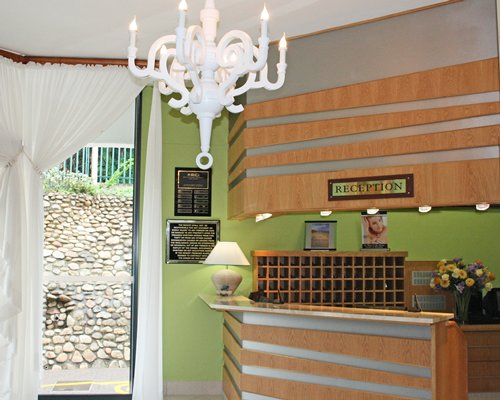 The reception area of La Cote D'Azur resort.