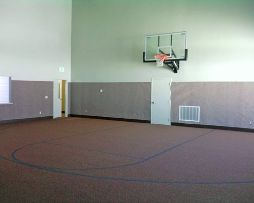 Indoor basketball court.