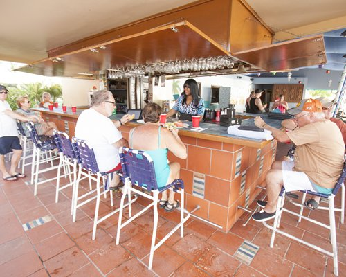 A bar at the Royal Islander Club la Plage resort.