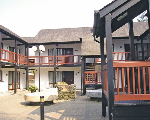 Exterior view of a unit with balconies.