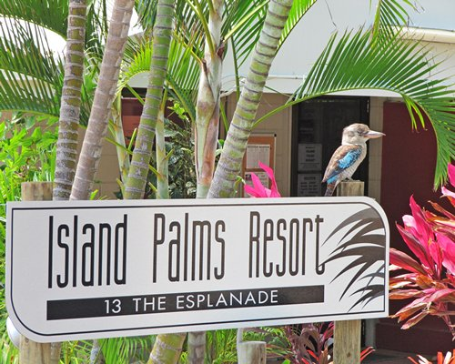 Signboard of Island Palms resort.