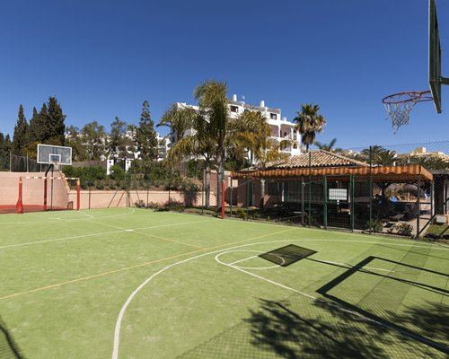 Outdoor basketball court at Crown Resorts at Club Delta Mar.