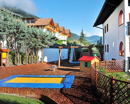 A scenic children's playscape.