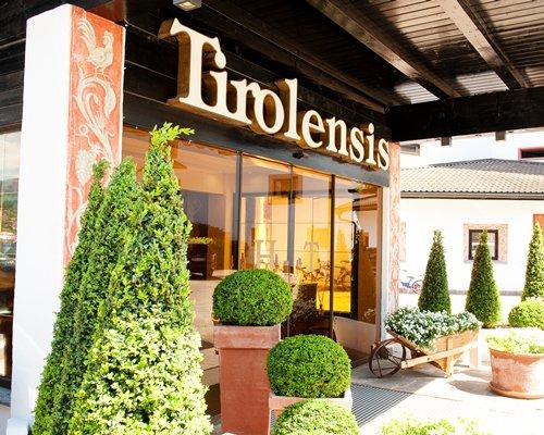 Entrance to Ferienclub Tirolensis.
