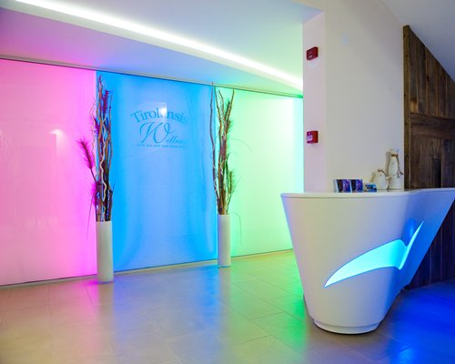 The reception area of the spa.