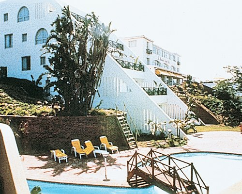 Exterior view of St Michael'S Sands with an outdoor swimming pool.