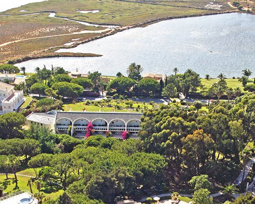 An aerial view of the Quinta do Lago Country Club resort.