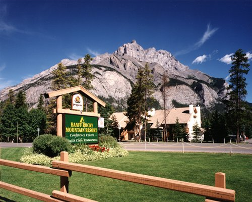 Signboard of Banff Rocky Mountain Resort.
