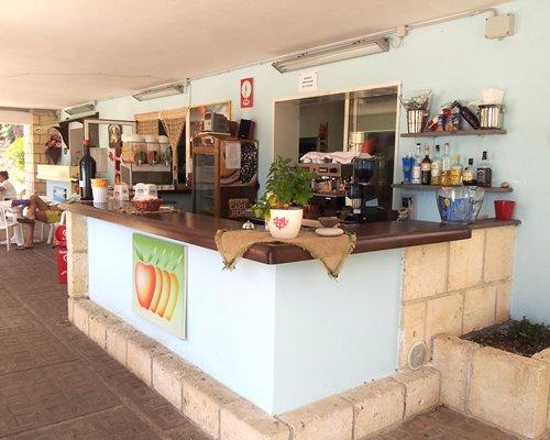 Indoor bar and restaurant.