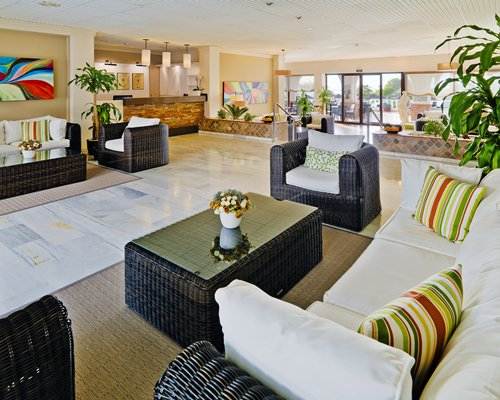 Reception and lounge area at The Regency Club Tenerife.
