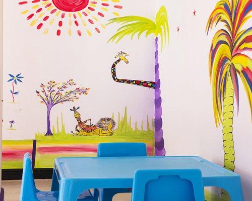 An indoor recreation room for kids.