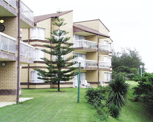 A scenic exterior view of multi story units.