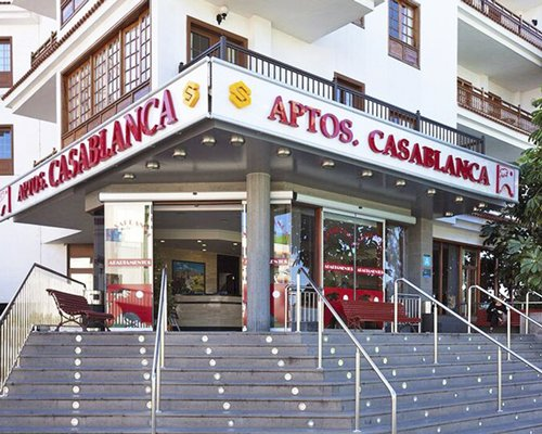 Exterior view and entrance of Club Casablanca.
