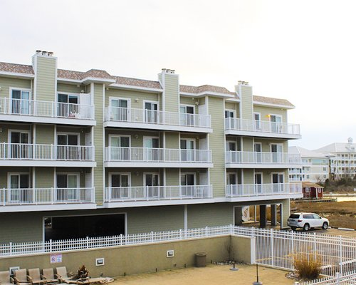 Exterior view of Lucayan with multiple balconies.