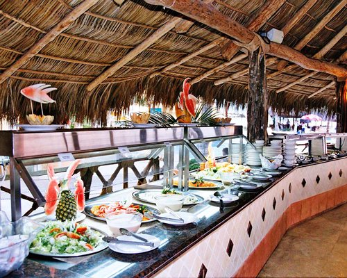 Buffet at Hotel Las Palmas Beach Resort.