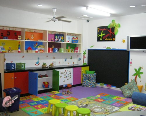 An indoor recreation room for kids.