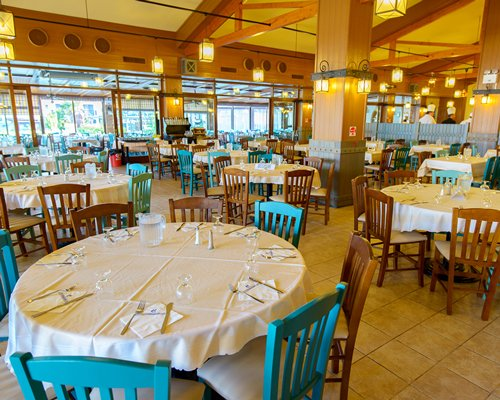 A restaurant at Golden Coast Holiday Club.