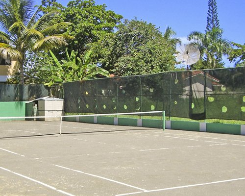 A scenic view of the ball badminton court.