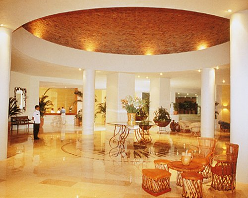The reception area of Hotel Emporio Ixtapa.