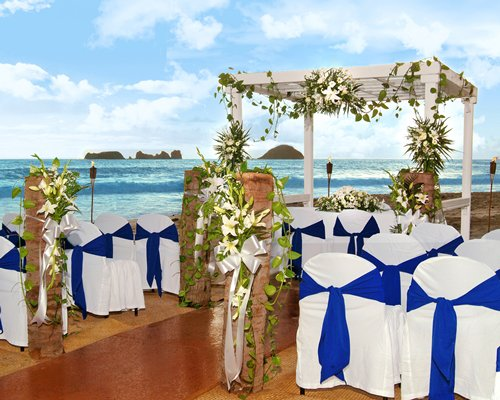 Outdoor venue alongside the beach.