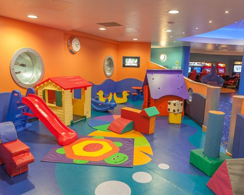 An indoor kids play area.