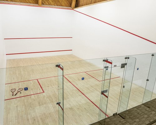 Indoor recreation room with squash.