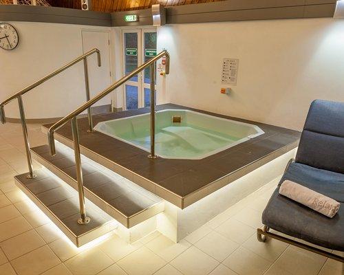 Indoor recreation room with squash.