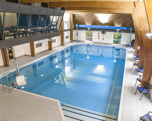 Indoor swimming pool.