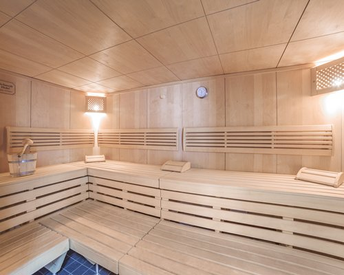 An indoor sauna.