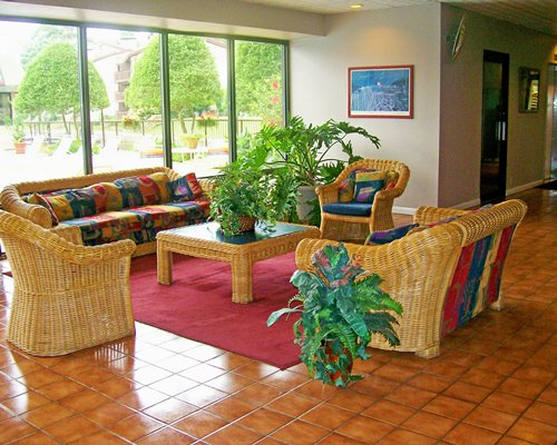 An indoor lounge area of the SunBay Resort.