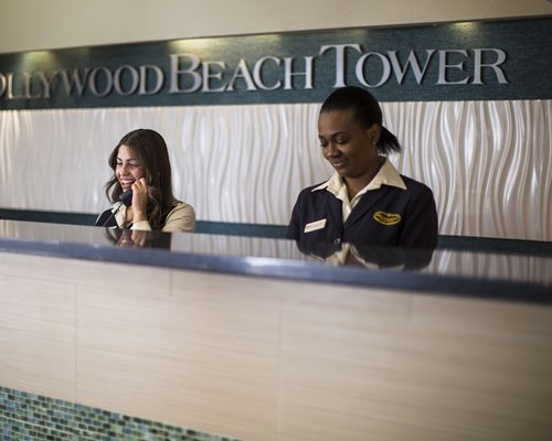 The receptionist at the reception of Hollywood Beach Tower.