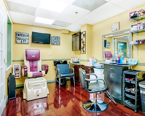 A well equipped salon.